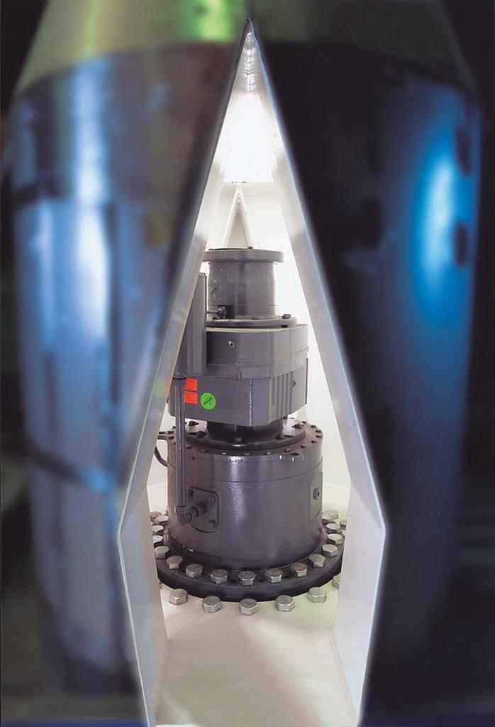 AUMUND Discharge System type CENTREX® CTX with internal drive (example, photo AUMUND)