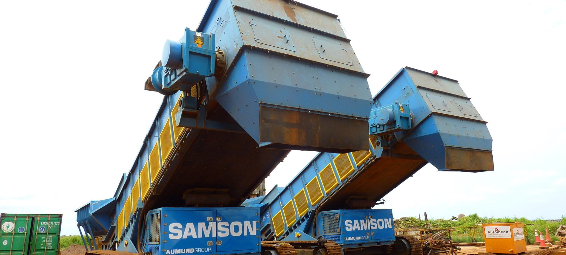 Mobile Samson Materialfoerderer in Parkposition
