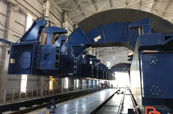 SCHADE-Wagon-Tippler-Unloading-lines-during-installation_3