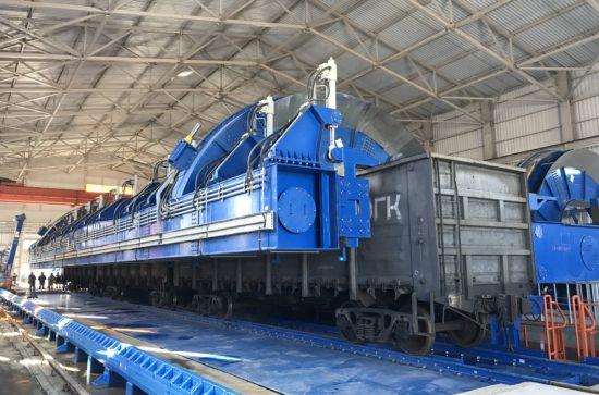 SCHADE-Wagon-Tippler-Unloading-lines-during-installation_4