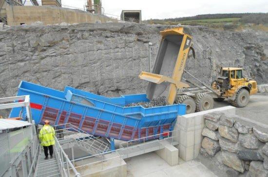Samson Materialförderer in einem Steinbruch