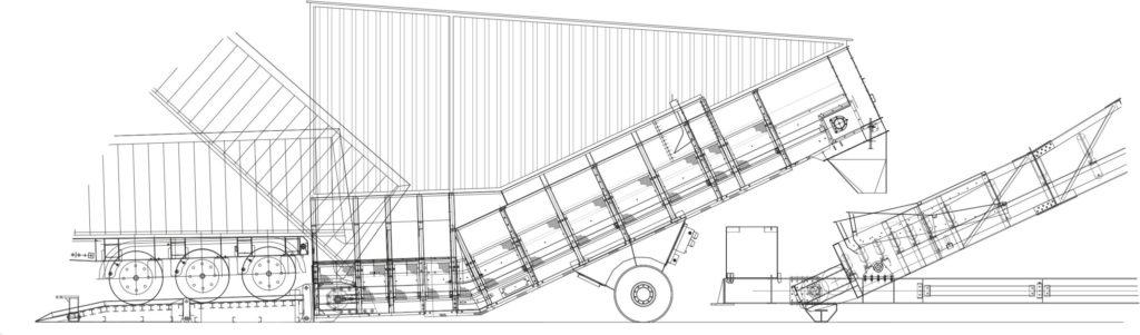 Drawing of the Samson Truck Unloader