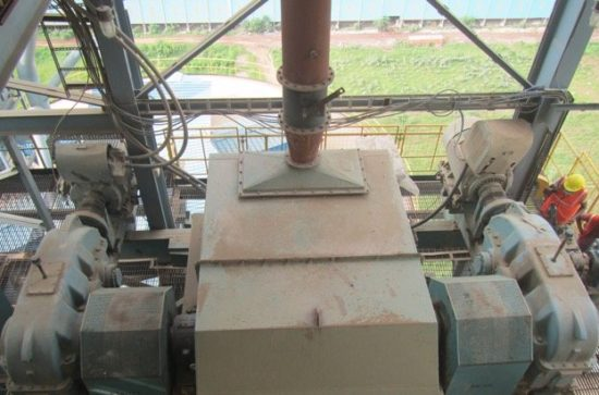 Raw Mill re-circulation by Double Bucket Elevator