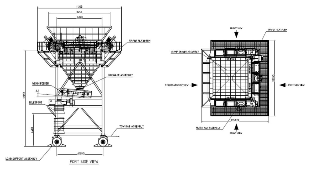 Drawing of the SAMSON Eco Hopper