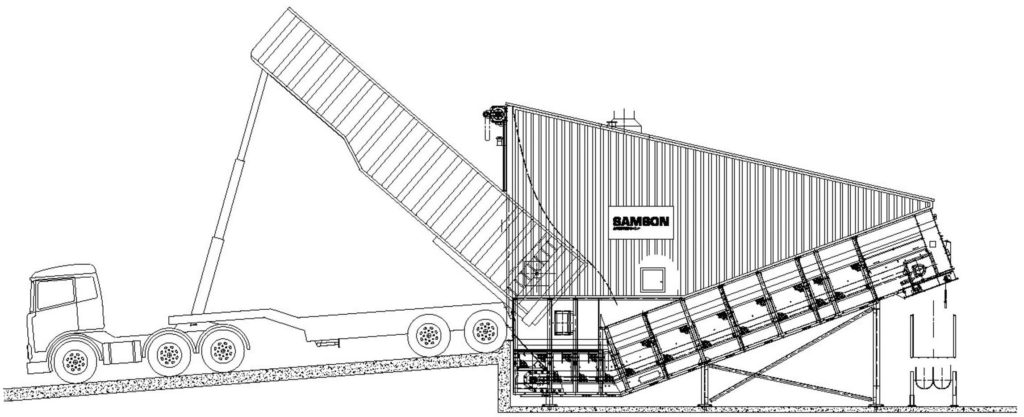 Drawing of the Samson Material Feeder