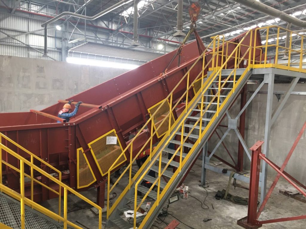 Onsite installation of the Samson® Material Feeder