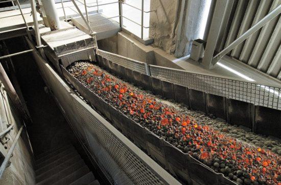 Pan Conveyor type K ZB (example, photo AUMUND)